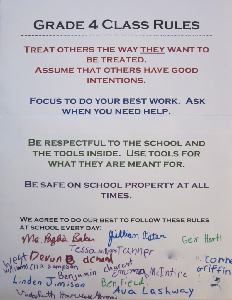 Fourth Graders Class Rules Ms Paglia Baker S Classroom Blog